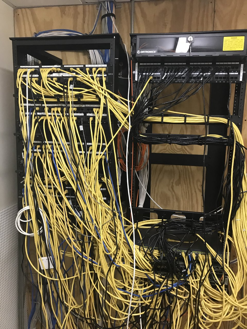 Network Pics Thread Page 324 Hard Forum Clean Wiring Closet View Attachment 33428 My Next To I Dont Know How The Guy Before Me Got Away With This Somewhere In That Mess Is 4 48 Port 2960s