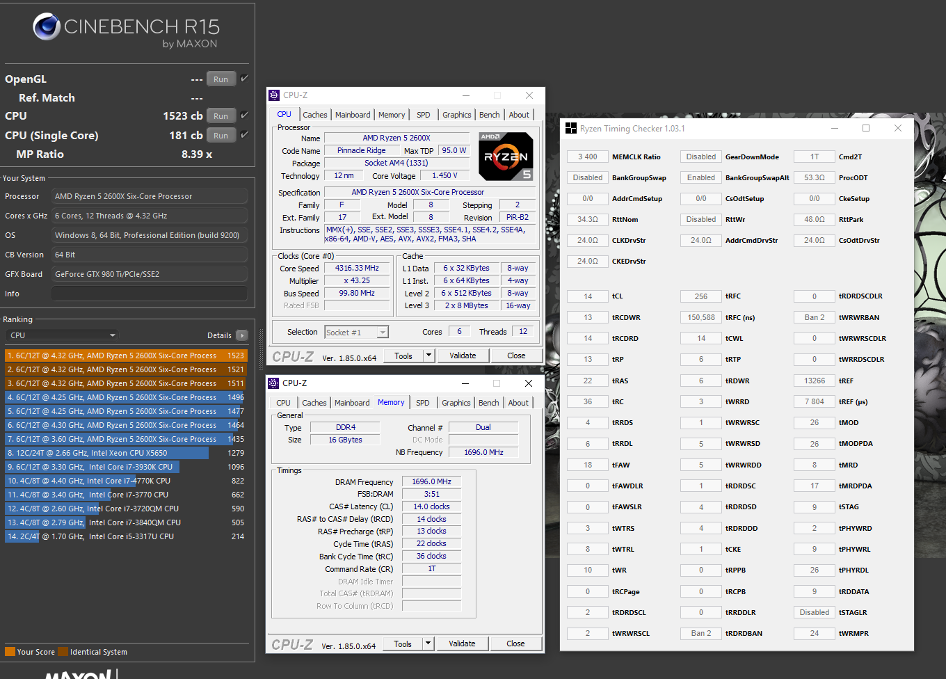 R5 2600X overclocked to 4 32GHz on Strix B350-F | [H]ard|Forum