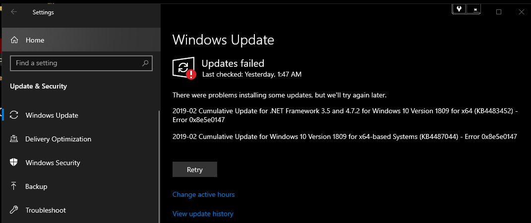 Windows 10 updates that fail to install no matter what i do