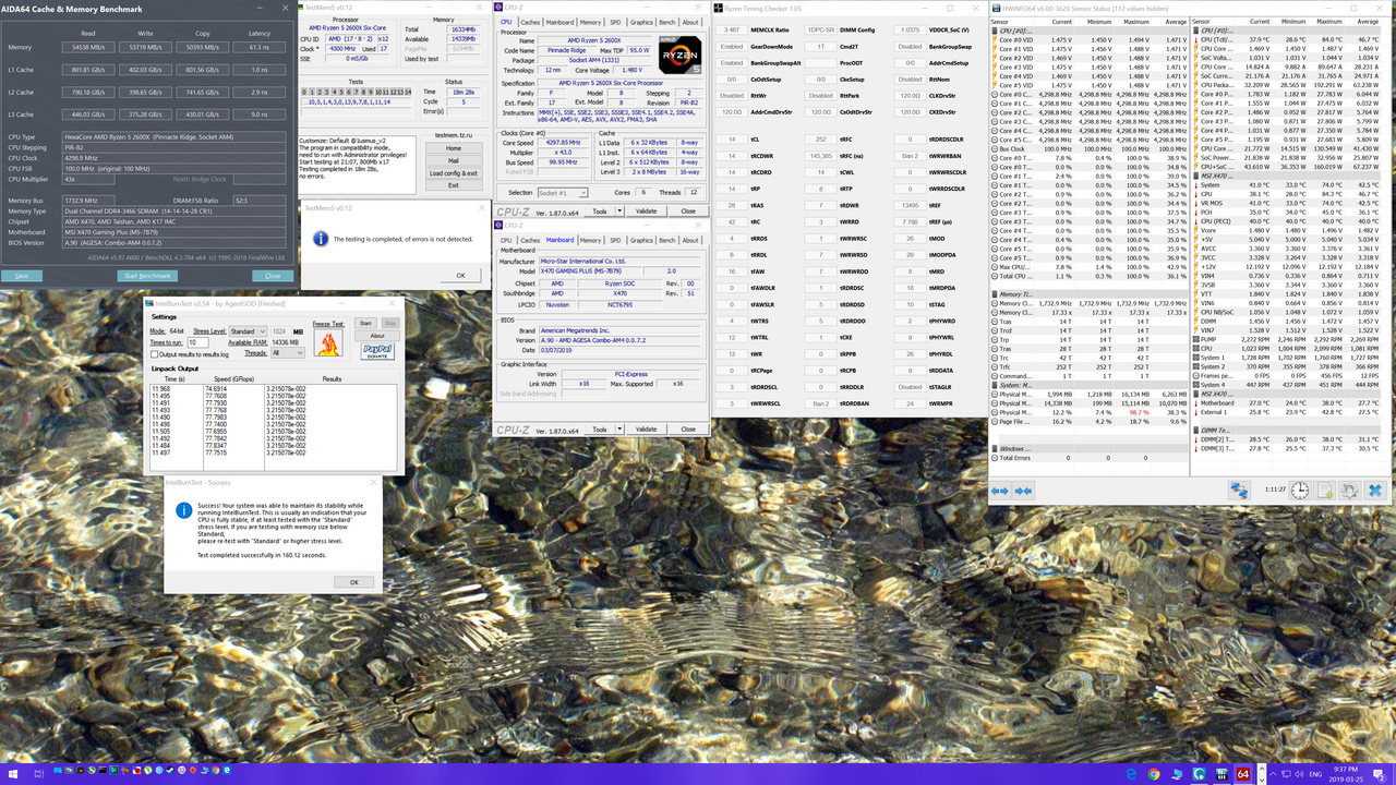 MSI X470 Gaming Plus/2600X Added PBO Disabled All Core Overclock