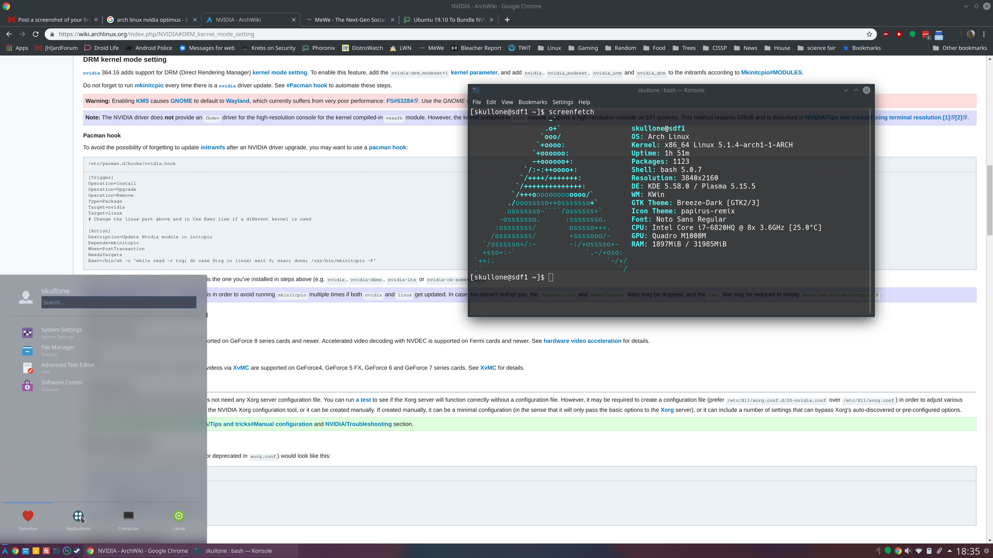 Post a screenshot of your linux! | Page 30 | [H]ard|Forum