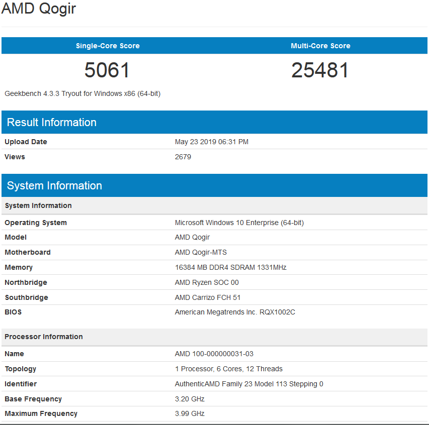 Possible Ryzen 3 3300 6 Core Benchmark Leaked, Faster Than