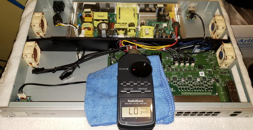 Ubiquiti Unifi US-24-250W POE switch - quieter fan swap | [H