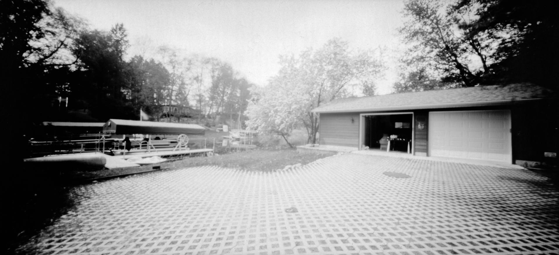 2020-05-24 - Pontoon and Garage - Taken with Holga Wide Pinhole Camera and on Seagull VC-FB pa...jpg