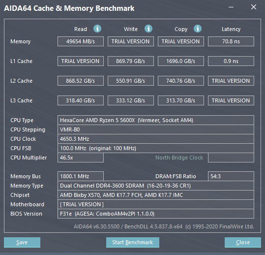 AIDA64 Cache & Memory Benchmark  [ TRIAL VERSION ] 11_19_2020 12_17_37 PM.png